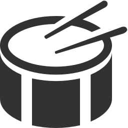 256x256px size png icon of Music side drum