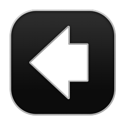 256x256px size png icon of Arrow Back 3