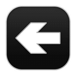256x256px size png icon of Arrow Back 4