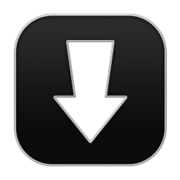 256x256px size png icon of Arrow Download 2