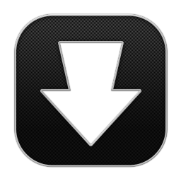 256x256px size png icon of Arrow Download