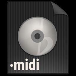 256x256px size png icon of zFileMIDI