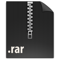 256x256px size png icon of zFileRAR