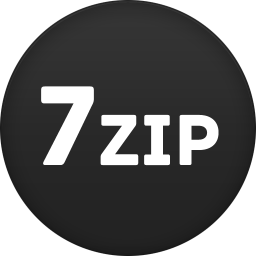 256x256px size png icon of 7zip