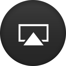 256x256px size png icon of airplay