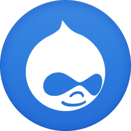 256x256px size png icon of drupal