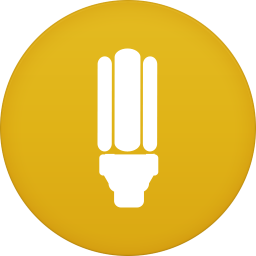 256x256px size png icon of flashlight app
