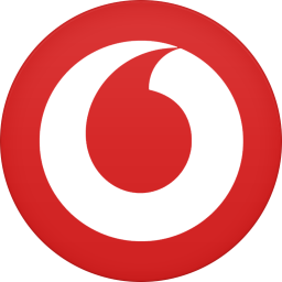 256x256px size png icon of vodafone