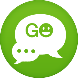 256x256px size png icon of go sms