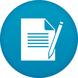 256x256px size png icon of notepad