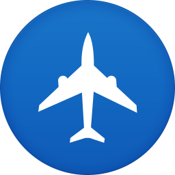 256x256px size png icon of plane flight