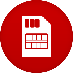 256x256px size png icon of sim