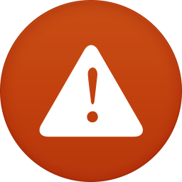 256x256px size png icon of warning