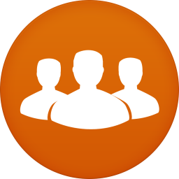 256x256px size png icon of contacts
