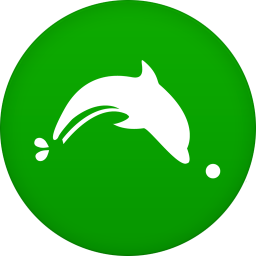 256x256px size png icon of dolphin