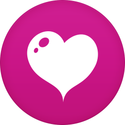 256x256px size png icon of heart