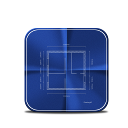 256x256px size png icon of blueprint