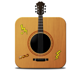 256x256px size png icon of guitar