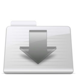 256x256px size png icon of Downloads Folder