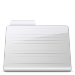 256x256px size png icon of Folder Stripped