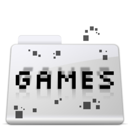 256x256px size png icon of Games Folder smooth