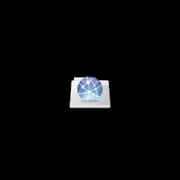 256x256px size png icon of Globe folder stripes