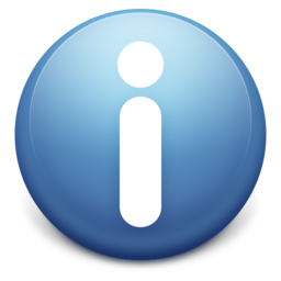 256x256px size png icon of Info