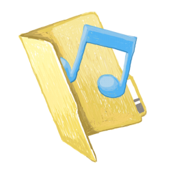 256x256px size png icon of folder music