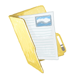 256x256px size png icon of folders docs