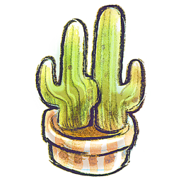 256x256px size png icon of G12 Flowerpot Cacti
