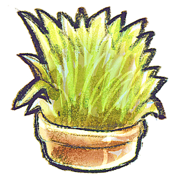 256x256px size png icon of G12 Flowerpot Grass