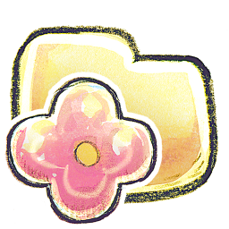 256x256px size png icon of G12 Folder Flower