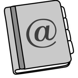 256x256px size png icon of adressbook