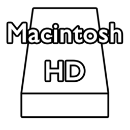 256x256px size png icon of macintoshHD