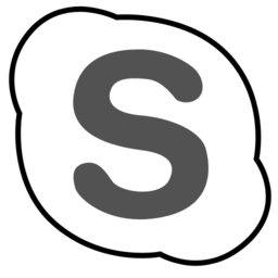 256x256px size png icon of skype