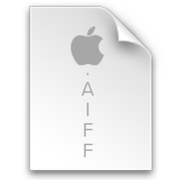 256x256px size png icon of File Aiff