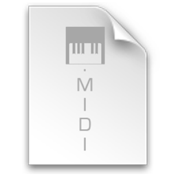 256x256px size png icon of File Midi