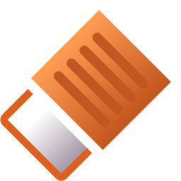 256x256px size png icon of Actions draw eraser