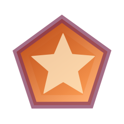 256x256px size png icon of Actions draw polygon star