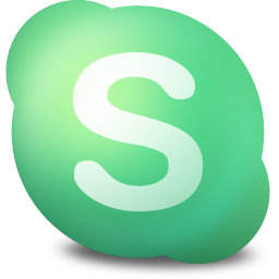 256x256px size png icon of Actions skype connecting