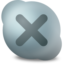256x256px size png icon of Actions skype contact offline