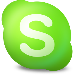 256x256px size png icon of Actions skype contact online