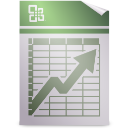 256x256px size png icon of Mimetypes application vnd.ms excel