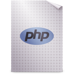 256x256px size png icon of Mimetypes application x php