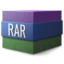 256x256px size png icon of Mimetypes rar