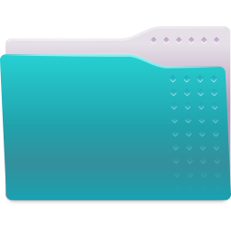 256x256px size png icon of Places folder cyan
