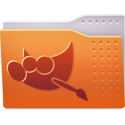 256x256px size png icon of Places folder gimp