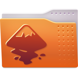 256x256px size png icon of Places folder inkscape