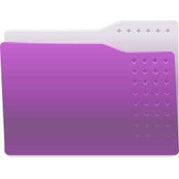 256x256px size png icon of Places folder violet