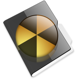 256x256px size png icon of Burnable folder